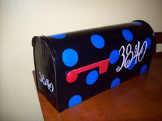 "Personalized Mailbox Decals by FoofiesShoppe on Etsy, 15.00 dollars for decal only. Personalized Mailbox Decals! Comes with 3 sets of numbers or Name & house numbers! Size of name or numbers are 2- 4""x9"", 1- 1-1/4""x4"" & 25- 2"" Dots or shape. Options are endless when it comes to your mailbox!"