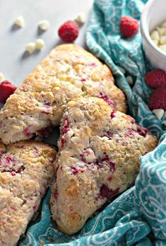 Soft, flaky, and bursting with flavour - these Raspberry White Chocolate Scones are best served with loved ones and plenty of coffee for breakfast or brunch White Chocolate Raspberry Scones, Afternoon Tea Parties, Perfect Breakfast, Sweet Tooth, Brunch, Easy Meals, Favorite Recipes, Baking, Coffee