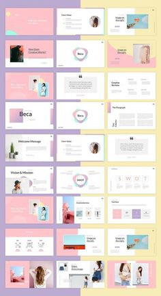 Beca - Powerpoint Template Template Brochure, Design Brochure, Powerpoint Design Templates, Graphic Design Layouts, Layout Design, Presentation Slides Design, Presentation Layout, Slide Design, Presentation Templates
