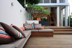 Fresh + modern inner city courtyard