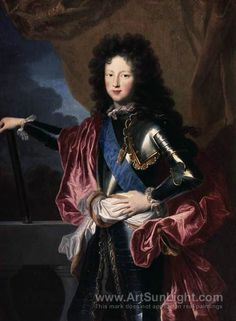 Portrait Of A Young Philippe D Orl Ans Duke Of Chartres Regent Of France Wood Print by Hyacinthe Rigaud Louis Xiv, Roi Louis, Grand Dauphin, Ludwig Xiv, Catalogue Raisonne, Bourbon, French Royalty, Oil On Canvas, Canvas Prints