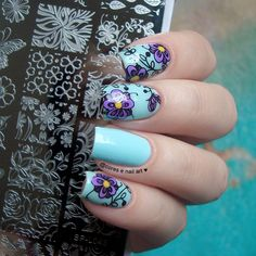 Floral and butterfly stamping nail art design review from bornprettystore.com customer