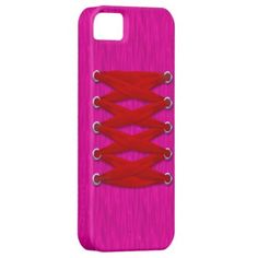 Red Lace on Pink Satin iPhone 5 Case by Graphic Allusions $44.95 #iphone5