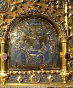 St.Mark Basilica, Venice - Pala d'Oro, detail 7 The Death of the Virgin Mary (Koímēsis Theotokou - Dormition of the Theotokos) by petrus.agricola, via Flickr