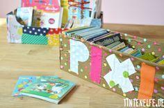 Basteln mit Kindern – Pixibuch-Kiste aus Schuhkarton