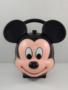 "Aladdin Industries Walt Disney Mickey Mouse Head 10"" Tall Lunch Box  #Aladdin"