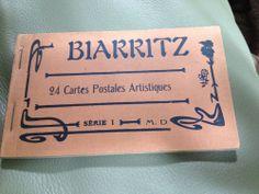 Antique 1900 WW1 era BIARRITZ  FRENCH POSTCARD set/book 23/24 cote basque coast