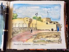 Another fortification at Oeiras beaches.#pilot namiki falcon#watercolor#fabriano artístico #sketchbook