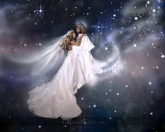 Bride of Christ in heavenly dance with Jesus, prophetic art.