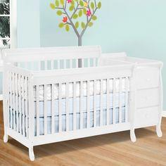 DaVinci Kalani 3 in 1 Convertible Crib and Changer Combo in White FREE SHIPPING