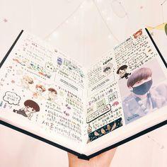Study Journal, Book Journal, Bts Book, K Pop, Calendar Journal, Bullet Journal Notes, Nice Handwriting, Dream Book, Planner Book