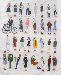 La Dolce Vita 30 stickers in a tin box