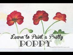 How to Paint a Pretty Poppy - Flower Patch Farmhouse