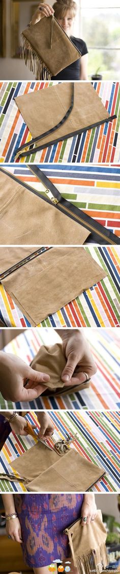 Dye leather purse