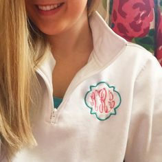 Monogrammed Quarter Zip by The Initialed Life Perfect for spring!