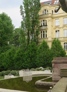 ღღ View of Dernburgplatz, Berlin. ~~~ Please click on the pin to learn more about this charming area of Berlin ~ Kat