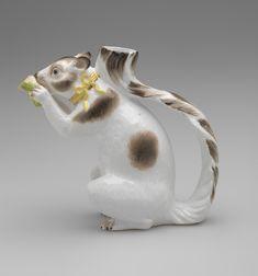 German Squirrel Teapot Tea Pot - Johann Joachim Kändler, modeler Meissen Porcelain Manufactor, Animal Teapot Tea Pot, circa1735 - 1737- Porcelain with enamels, glaze, and gilding