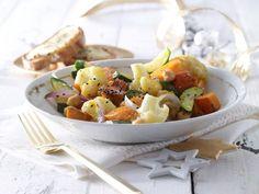 Lauwarmer Gemüsesalat mit Ziegenkäse-Baguette: raffinierter vegetarischer…