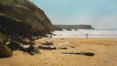 cuadro al oleo de la playa de los Locos, Suances