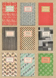 Not sure who to credit for design, but I'm liking these vintage covers. Great palettes.