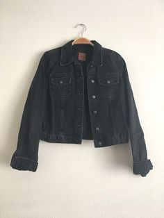 JOE'S JEANS Womens Long Sleeve Slim Stretch Moto Denim Jean Jacket Black S $198 #JoesJeans #BasicJacket #Casual
