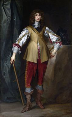 Anthonis van Dyck 058 - Prince Rupert of the Rhine - Rupert as a young man visiting his uncle, King Charles I's court in England, by Anthony van Dyck
