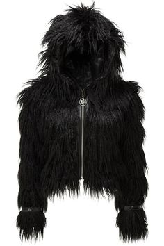 Glampire Black Absinthe Fur Jacket [B] | KILLSTAR