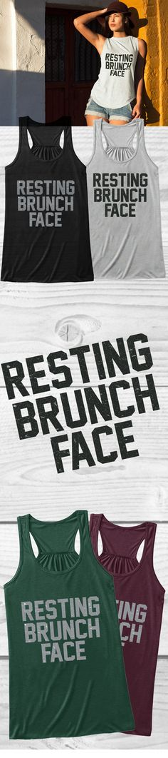 Do you know Resting Brunch Face is?! Check out this awesome Resting Brunch Face t-shirt you will not find anywhere else. Not sold in stores and on sale now at only $19.99! Grab yours or gift it to a friend, you will both love it