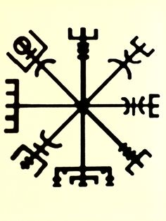 "A Vegvísir is an Icelandic magical stave. ""if this sign is carried, one will never lose one's way in storms or bad weather, even when the way is not known""."
