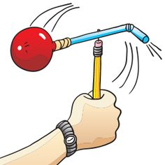 FUN Science Idea~  To help young physicists understand that for every action, there is an equal and opposite reaction you'll need these items:  flexible straw, ruler, straight pin, marker, round balloon, masking tape, and pencil with eraser.  Great way to teach air pressure and thrust!