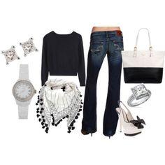 Black, white & diamonds fashion