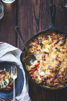 Eggplant, Sweet Pepper, and Bechamel Gratin {Gluten-Free} | The Bojon Gourmet