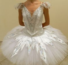 Professional White Ballet Tutu Costume Russian Snow Queen Flakes Custom MTO…