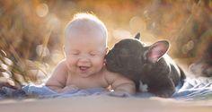 Малыш и щенок - братья навек!