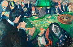 Edvard Munch, «At the Roulette Table in Monte Carlo»
