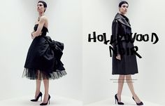 HOLLYWOOD NOIR ブラックで装う、新・ハリウッドグラマー PHOTOGRAPHED BY ROBBIE FIMMANO STYLED BY SABINO PANTONE