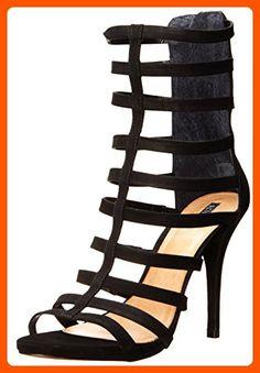 Schutz Women's Davinya Dress Sandal, Black Nubuck, 7 M US - All about women (*Amazon Partner-Link)