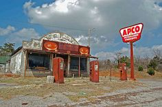 abandoned gas station used to be ws fields? general merchandise store in Cogar Oklahoma-small | by Mike Doty