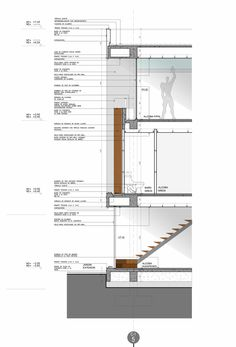 Image 31 of 37 from gallery of Twin Houses / MGP Arquitectura y Urbanismo. detailed section 02 Architecture Student, Architecture Drawings, Architecture Details, Interior Architecture, Interior Design, Construction Documents, Construction Drawings, Wooden Skyscraper, Curtain Wall Detail