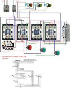 Esquemas eléctricos: ESTRELLA TRIANGULO CON INVERSION DE GIRO MANIOBRA