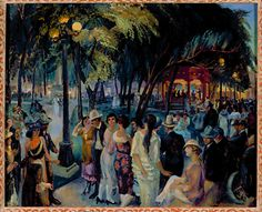 Music on the Plaza, 1920  Oil on Canvas by John Sloan    http://www.newmexicoculture.org/welcome.html  Educating people on the culture and art of New Mexico.