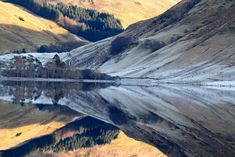 Mirror like reflections at Loch Scammadale, Argyll, Scotland