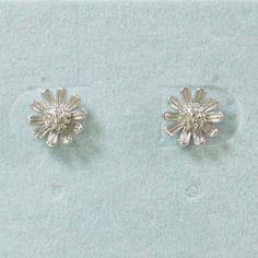 925 Sterling Silver Flower Studs Earrings