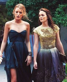 Blair Waldorf style (gold and blue dress) Gossip Girl.