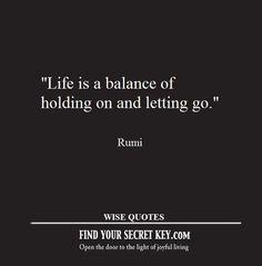 Life is a balance.....