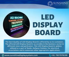 Led Display Board, Led Sign Board, Video Wall, Led Signs, Allotment, Banks, Business, Store, Business Illustration