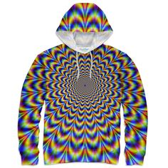 Fractal Pulse Hoodie by Shelfies Fractals, Stretch Fabric, Im Not Perfect, Hoodies, Sewing, Prints, Color, Collection, I'm Not Perfect