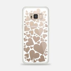 White Wrapped in Hearts Galaxy Case