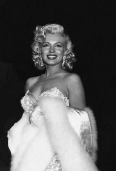 Marilyn Monroe at the premiere of How To Marry A Millionaire, November 1953.