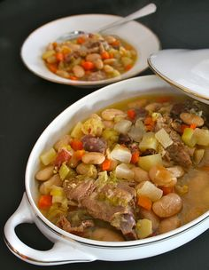 Garbure: Gascony stew of beans, cabbage, ham and bread.